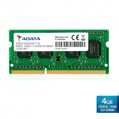 ADATA Premier DDR3L 1600 SO-DIMM PC3L-12800 Memory - 4GB