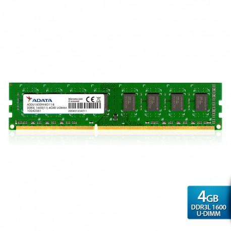ADATA Premier DDR3L 1600 U-DIMM PC3L-12800 Memory - 4GB