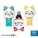 PQI Connect 303 Lucky Cat OTG Flashdisk Karakter Kucing - 8GB