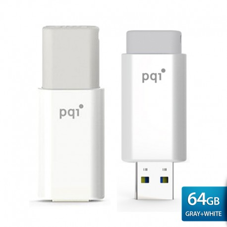 PQI U176L Flashdisk USB Traveling Disk – 64GB Gray-white