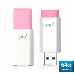 PQI U176L Flashdisk USB Traveling Disk – 64GB Pink-white