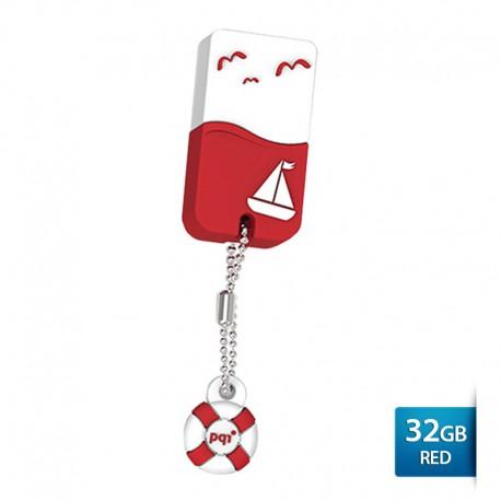 Pqi U605L Flashdisk USB 2.0 Waterproof & Shockproof - 32GB Red