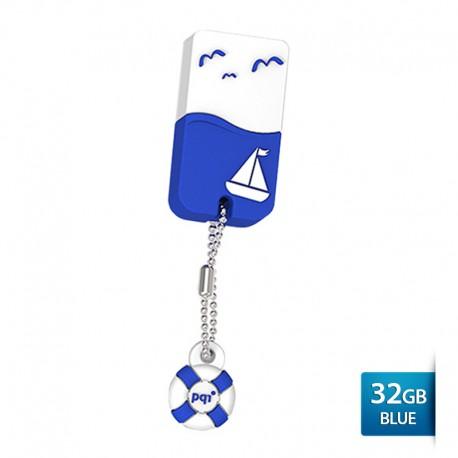 Pqi U605L Flashdisk USB 2.0 Waterproof & Shockproof - 32GB Blue