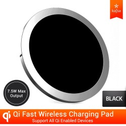 Kajsa W6 Qi Fast Wireless Charger – Black