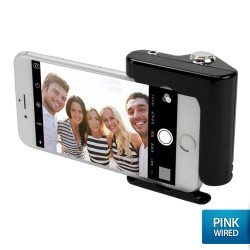 OptimuZ Wired Selfie Hero Hand Grip Shutter for Smartphone - Black