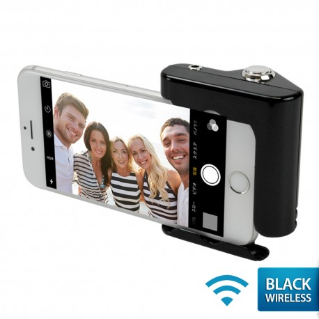 OptimuZ Wireless Selfie Hero Hand Grip Shutter for iPhone Siri - Black