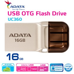 ADATA UC360 - Flashdisk OTG USB 3.1 Super Speed - 16GB Gold