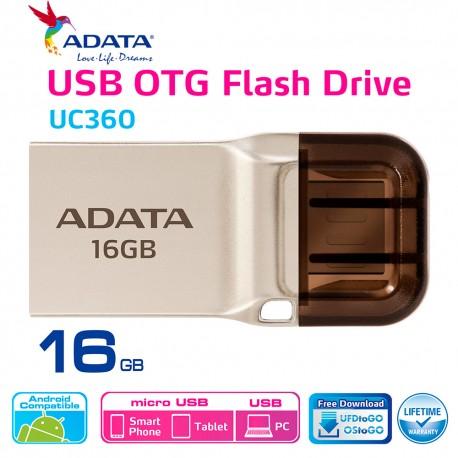 ADATA UC360 - Flashdisk OTG USB 3.1 Super Speed - 16GB Gold