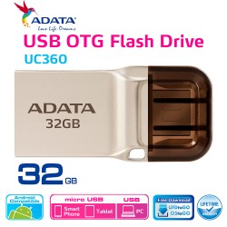 ADATA UC360 - Flashdisk OTG USB 3.1 Super Speed - 32GB Gold