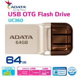 ADATA UC360 - Flashdisk OTG USB 3.1 Super Speed - 64GB Gold