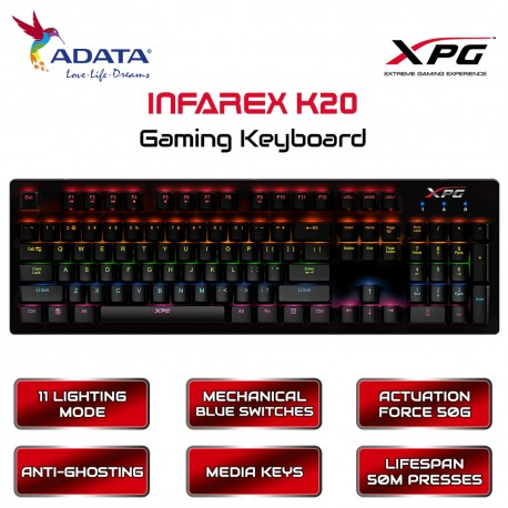 ADATA XPG INFAREX K20 Gaming Keyboard