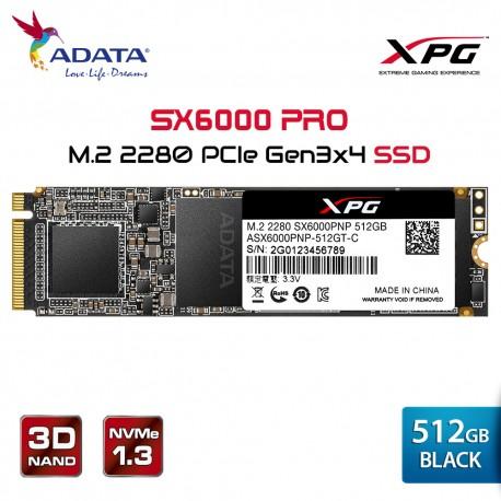 ADATA XPG SX6000NP PRO 512GB - PCIe Gen3x4 M.2 2280 SSD -Solid State Drive