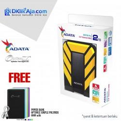ADATA H710 Pro - 2TB Kuning - Hard Disk Eksternal USB3.1 Anti-Shock & Waterprooff