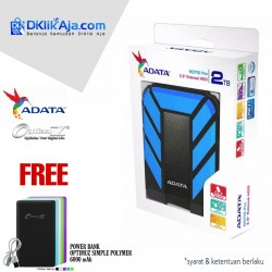 ADATA H710 Pro - 2TB Biru - Hard Disk Eksternal USB3.1 Anti-Shock & Waterprooff