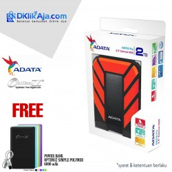 ADATA H710 Pro - 2TB Merah - Hard Disk Eksternal USB3.1 Anti-Shock & Waterprooff