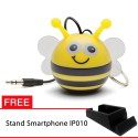 OptimuZ Mini Buddy Portable Speaker Character - Bee - FREE Stand HP