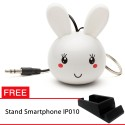 OptimuZ Mini Buddy Portable Speaker Character - Bunny - FREE Stand HP