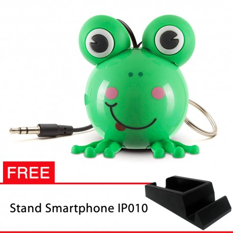 OptimuZ Mini Buddy Portable Speaker Character - Frog - FREE Stand HP