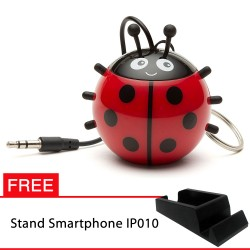 OptimuZ Mini Buddy Portable Speaker Character - Ladybird - FREE Stand HP