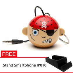 OptimuZ Mini Buddy Portable Speaker Character - Pirate - FREE Stand HP