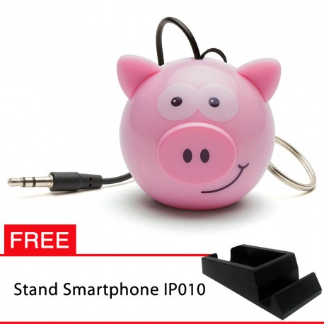 OptimuZ Mini Buddy Portable Speaker Character - Pig - FREE Stand HP