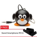 OptimuZ Mini Buddy Portable Speaker Character - Penguin - FREE Stand HP