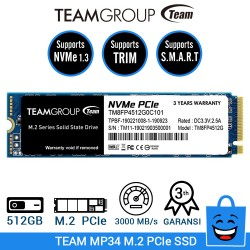TEAM SSD MP34 M.2 2280 PCIe Gen3x4 NVMe 1.3 - 512GB
