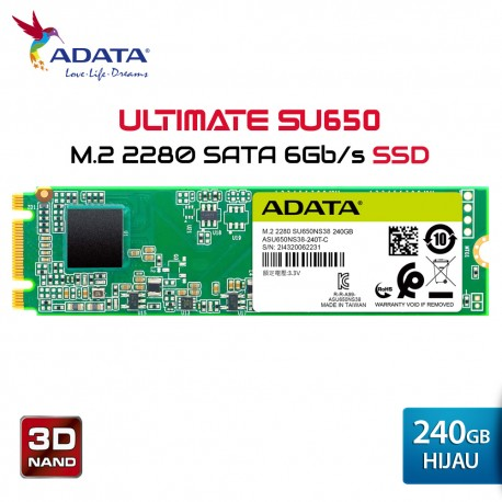 ADATA SU650NS Ultimate SSD Internal  M.2 2280 SATA - 240GB