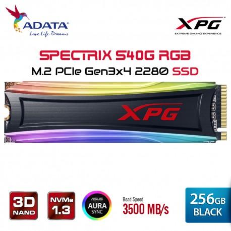 ADATA XPG SPECTRIX S40G RGB SSD PCIe Gen3x4 M.2 2280 - 256GB