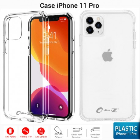 OptimuZ Soft Case Pelindung iPhone 11 PRO – Clean Plastic