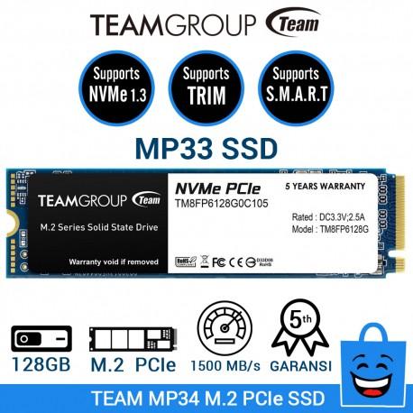 TEAM SSD MP33 M.2 2280 PCIe Gen3x4 NVMe 1.3 - 128GB