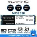 TEAM SSD MP33 M.2 2280 PCIe Gen3x4 NVMe 1.3 - 256GB