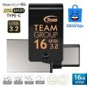 Team Group M181 OTG Type-C Flashdisk USB3.2 - 16GB Hitam
