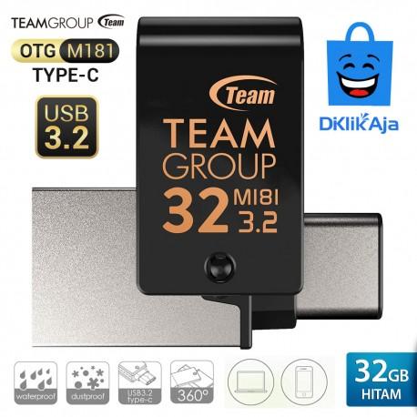 Team Group M181 OTG Type-C Flashdisk USB3.2 - 32GB Hitam