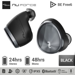 Optoma NuForce BE Free6 Truly Wireless Bluetooth 5.0 Earbuds Extra Bass - Hitam