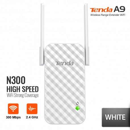 TENDA A9 Extender Wireless N300 Penguat Signal WiFi – Putih
