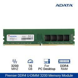 ADATA Premier DDR4 3200 U-DIMM RAM PC Desktop - 16GB Hijau