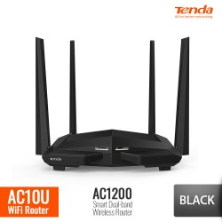 TENDA AC10U Router WiFi AC1200 Smart Dual-Band Gigabit - Hitam