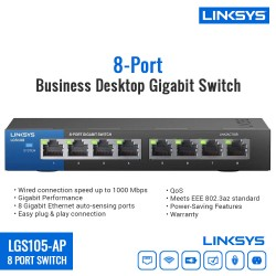 Linksys LGS108-AP 8-Port Business Desktop Gigabit Switch