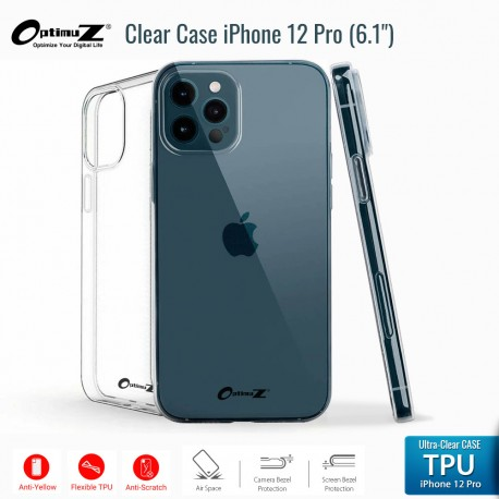 OptimuZ Case Transparan TPU iPhone 12 Pro