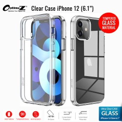 "OptimuZ Case Transparan Tempered Glass iPhone 12 (6,1"")"