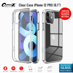 "OptimuZ Case Transparan Tempered Glass iPhone 12 PRO (6,1"")"