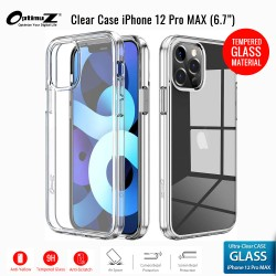 "OptimuZ Case Transparan Tempered Glass iPhone 12 PRO MAX (6,7"")"