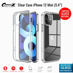 "OptimuZ Case Transparan Tempered Glass iPhone 12 Mini (5,4"")"