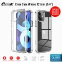 "OptimuZ Case Transparan Tempered Glass iPhone 12 Mini (5,4"")"