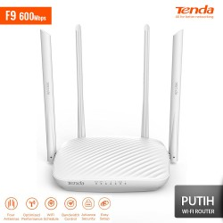 TENDA F9 Smart Wireless Router 600Mbps - Putih