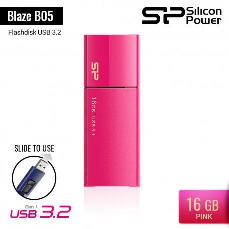 Silicon Power Blaze B05 Flashdisk USB3.2 - 16GB Pink