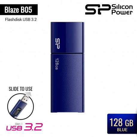 Silicon Power Blaze B05 Flashdisk USB3.2 - 128GB Blue