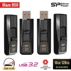 Silicon Power Blaze B50 Flashdisk USB3.2 - 16GB-128GB Black