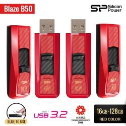 Silicon Power Blaze B50 Flashdisk USB3.2 - 16GB-128GB Red